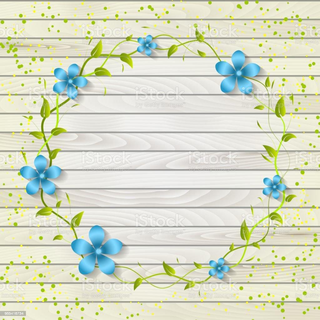 Uitnodiging Bruiloft En Aankondiging Kaart Met Bloemen