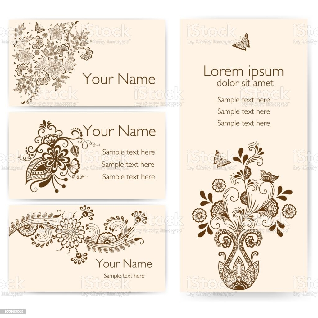 Wedding invitation and announcement card with ornamental lace with wedding invitation and announcement card with ornamental lace with arabesque elements mehndi style orient stopboris Images