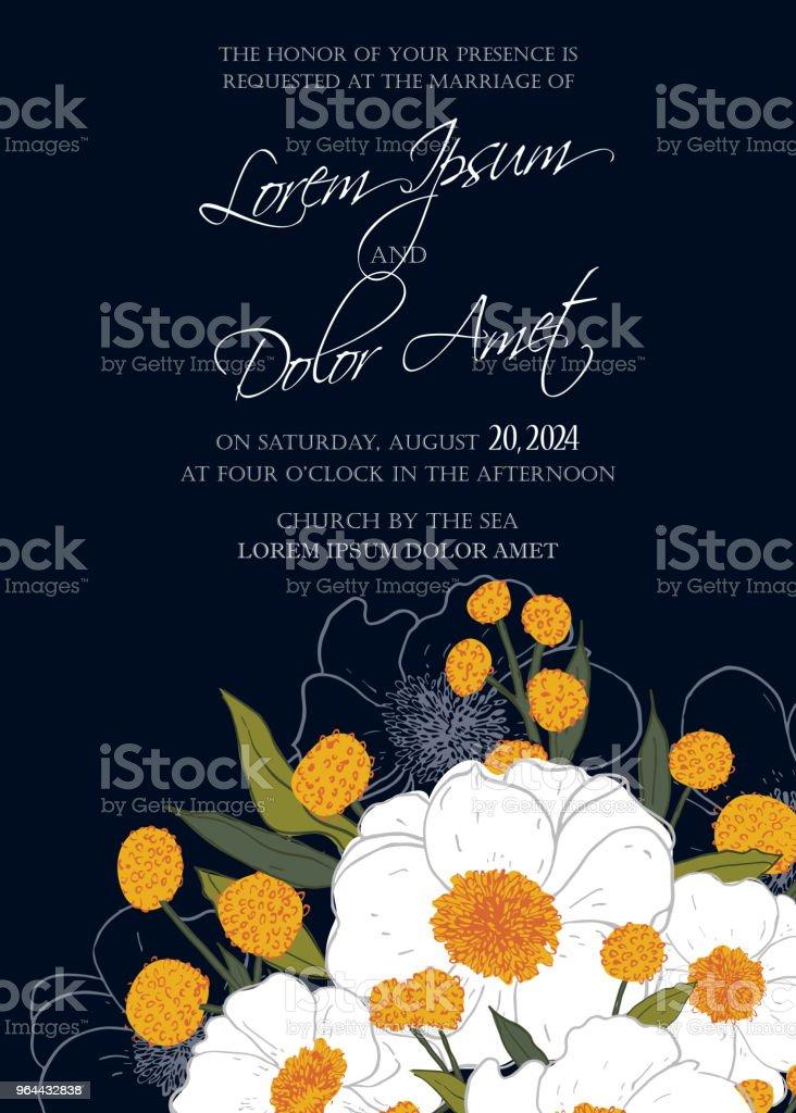 Convite de casamento e salvar a data de cartões - Vetor de Abstrato royalty-free