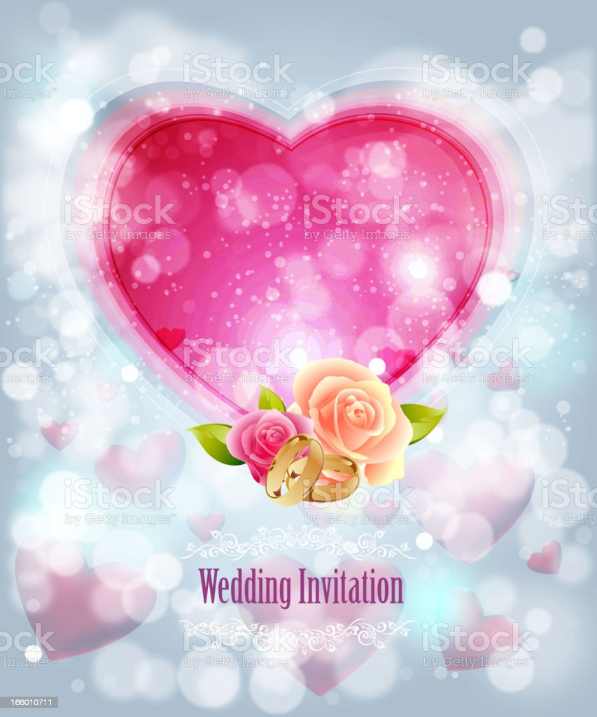 Wedding Invitation Background royalty-free stock vector art