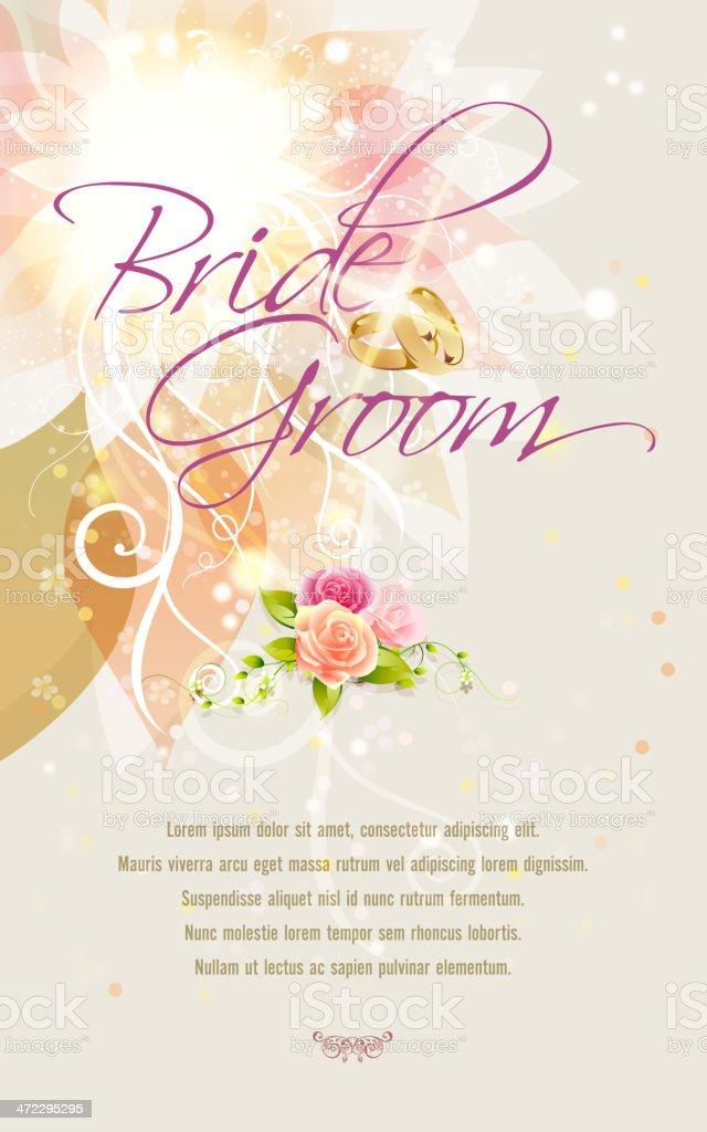 Wedding Invitation Background royalty-free wedding invitation background stock vector art & more images of backgrounds