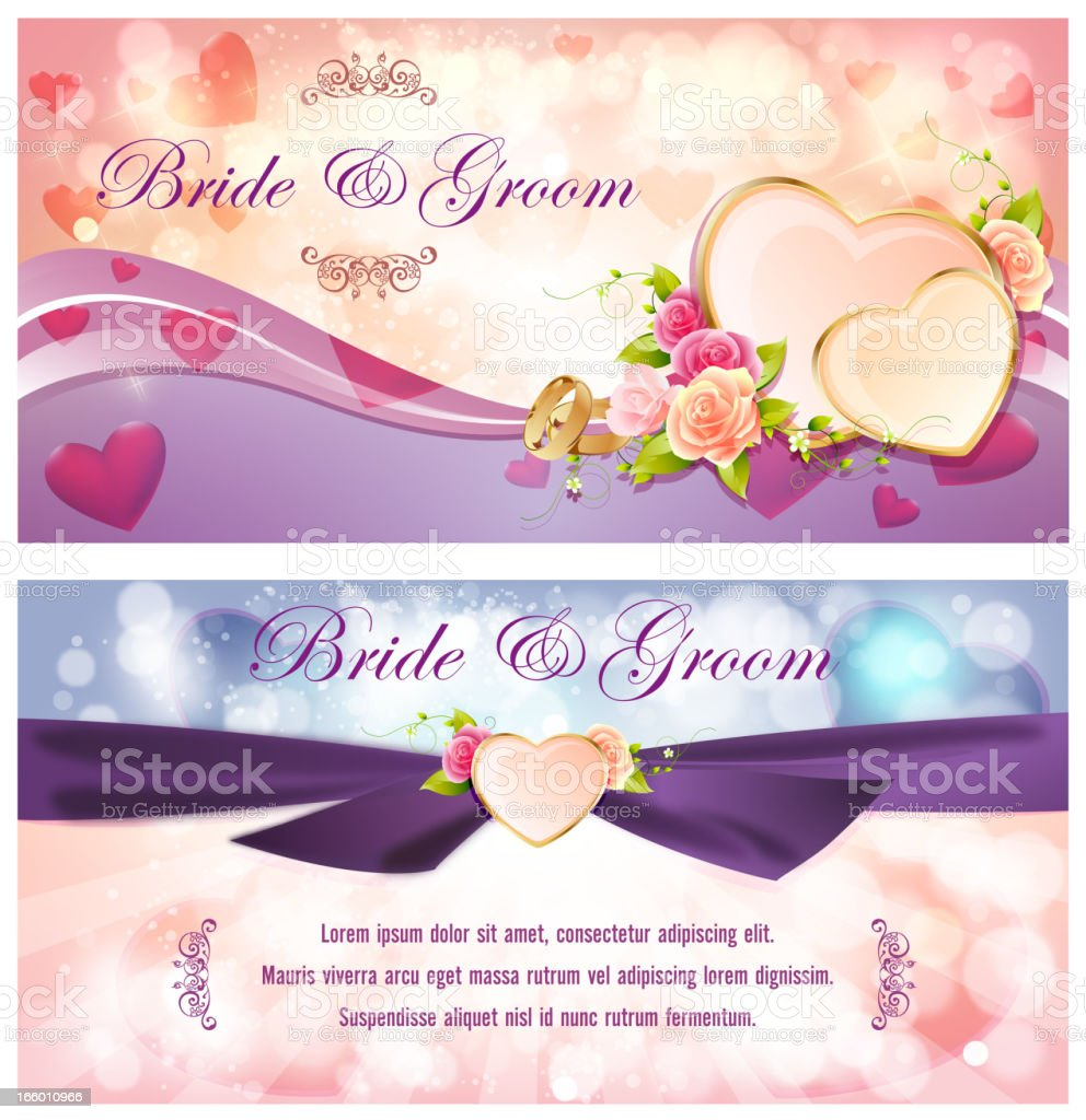 Wedding Invitation Banners Stock Vector Art & More Images of ...