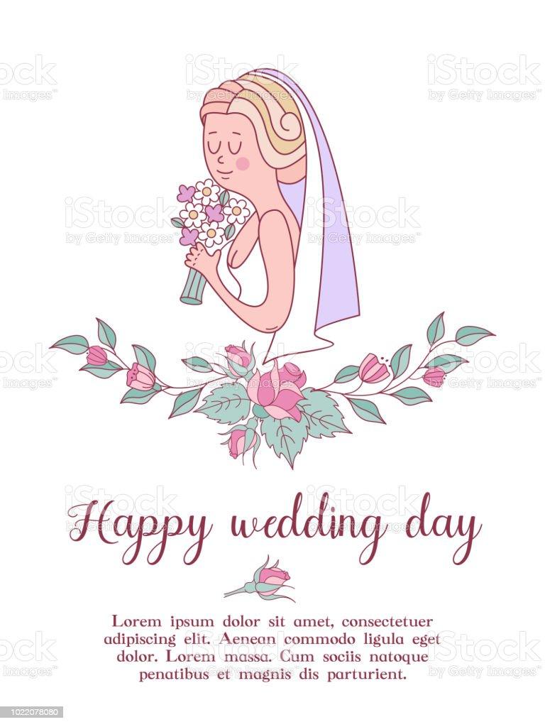 Hochzeitseinladung Schone Hochzeitskarte Mit Einem Kranz Von Zarten