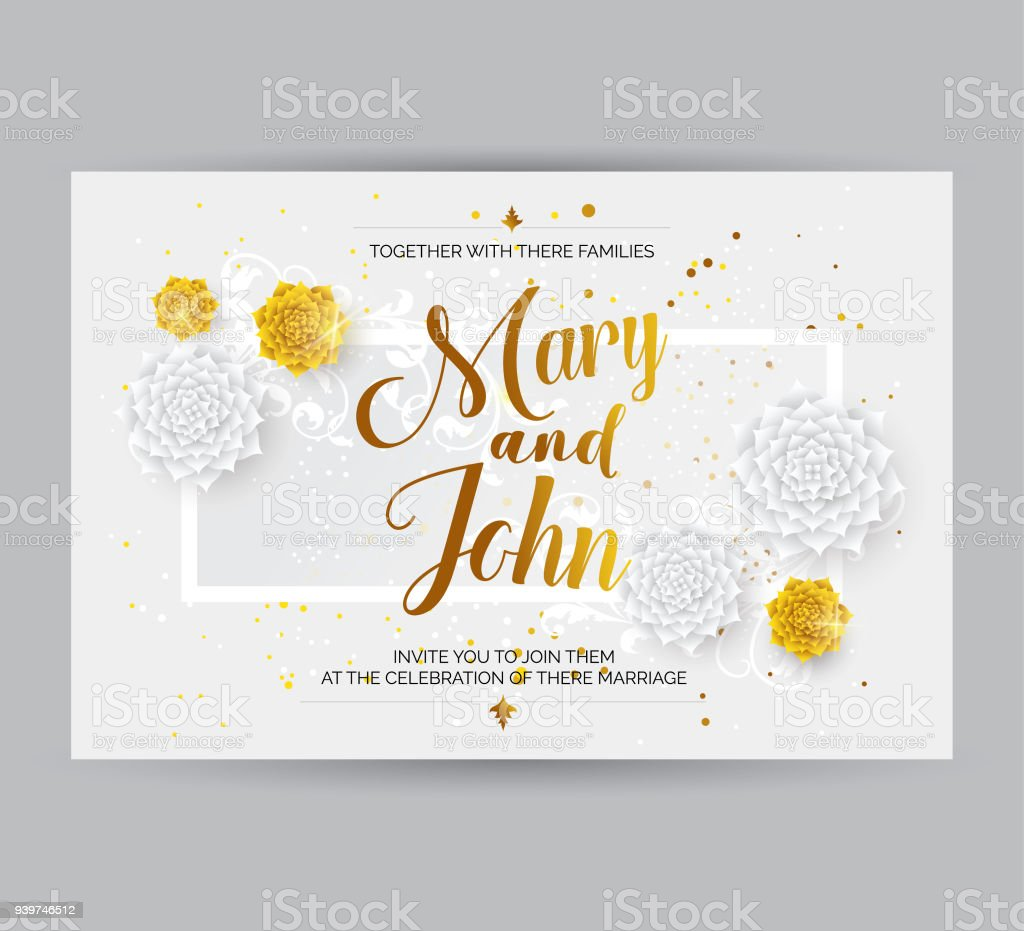 Wedding Invitation Card Background Stock Vector Art & More Images of ...