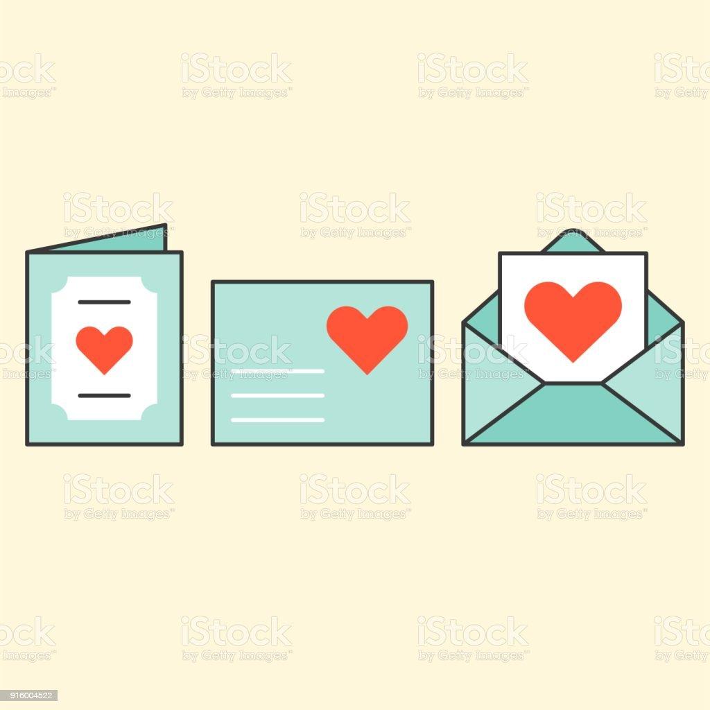Wedding Invitation Card Envelope Love Letter Valentine Day Filled