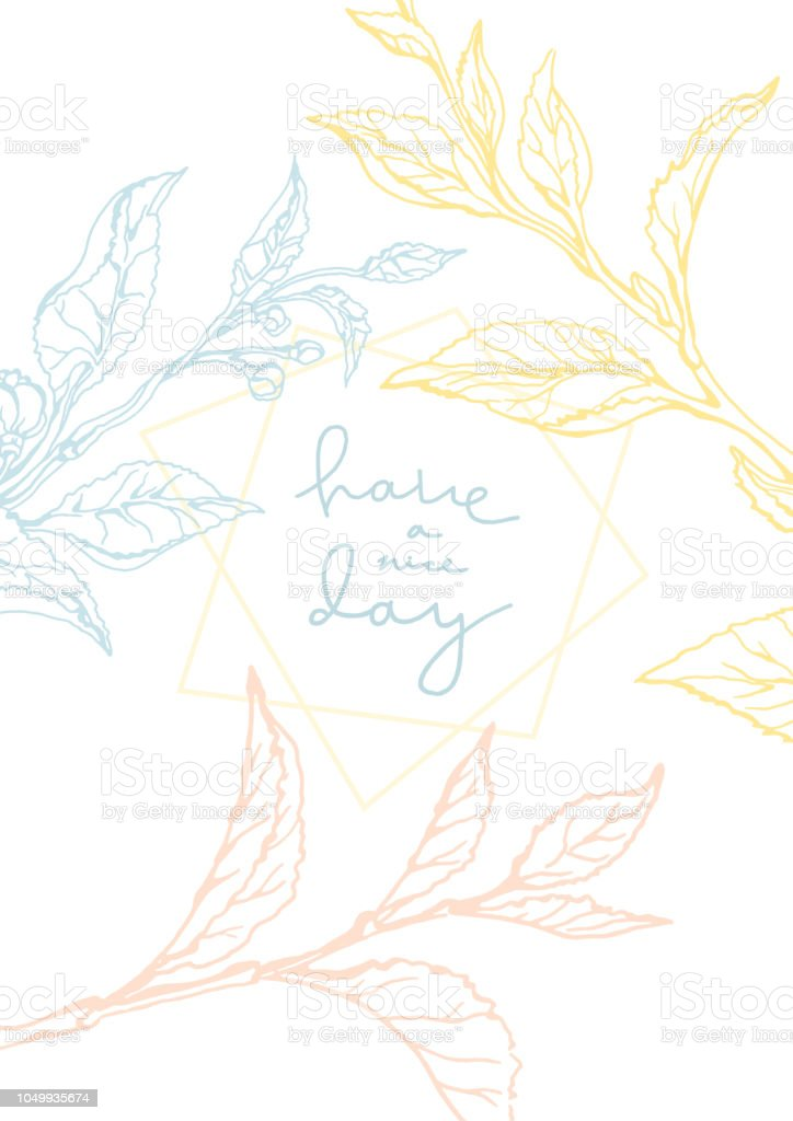 Wedding Invitation Card Floral Template Stock Vector Art More