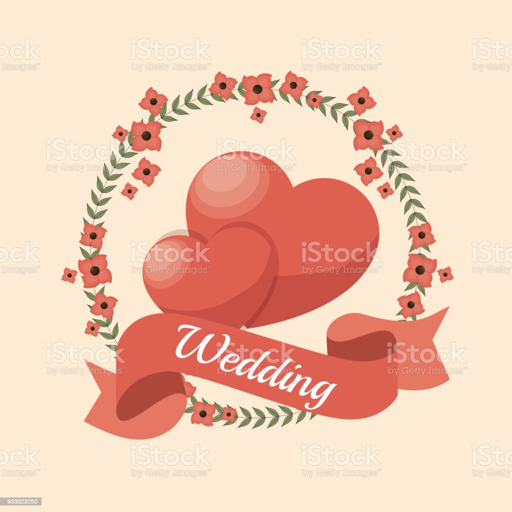 Wedding Invitation Card Icon Stock Vector Art & More Images of Art ...
