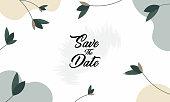 Wedding invitation, card illustration