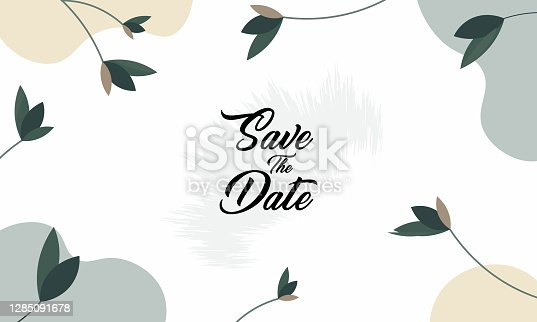 istock Wedding invitation, card illustration 1285091678