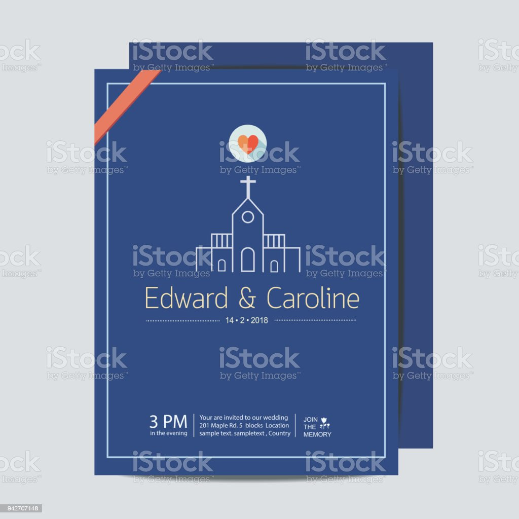 Wedding Invitation Card Template Marriage At Church Stock Pertaining To Church Wedding Invitation Card Template
