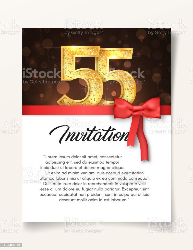 Anniversaire invitation ticket Anniversaire Invitation Fête Mariage Elegant retro 50
