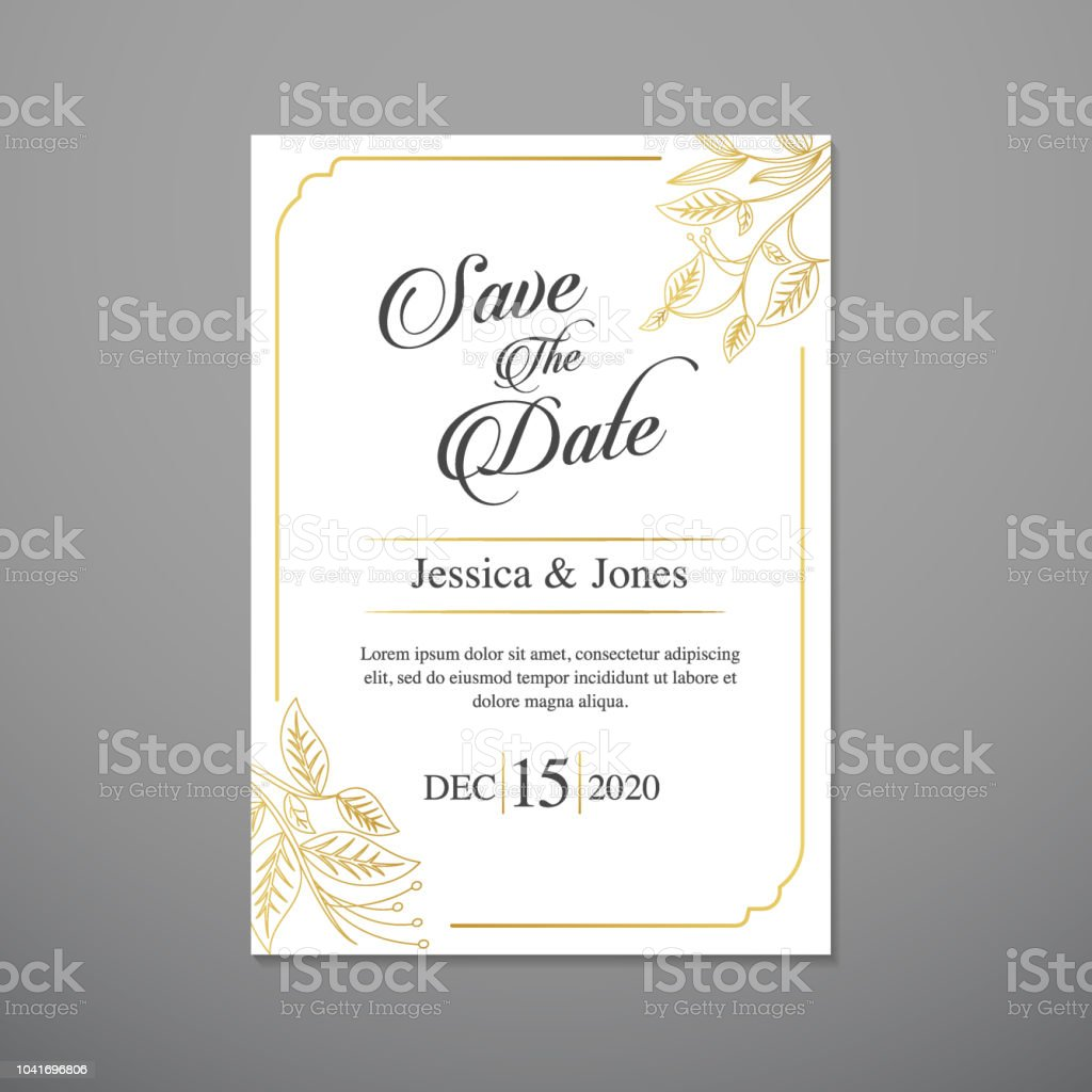 wedding invitation card template stock vector art more images of