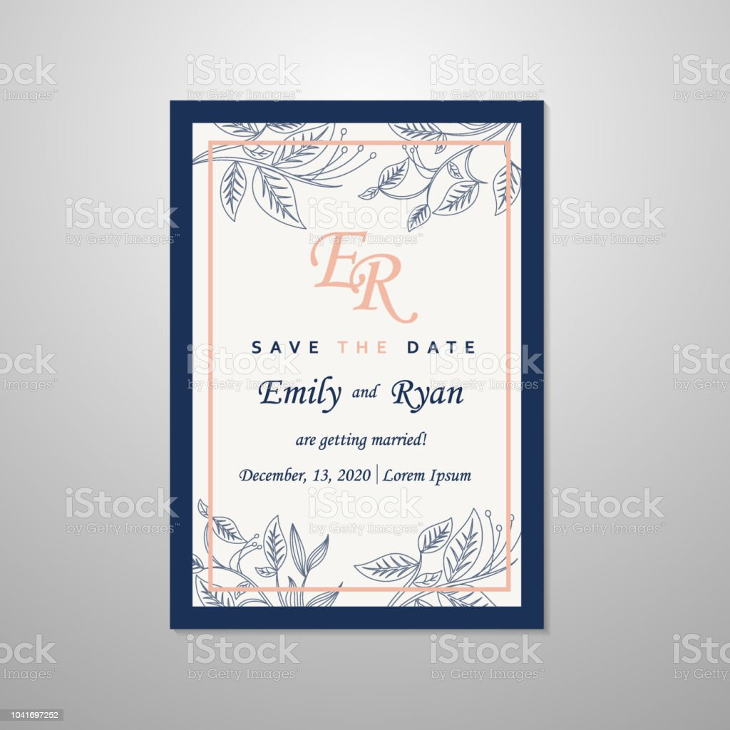 Wedding Invitation Card Template Stockowe Grafiki