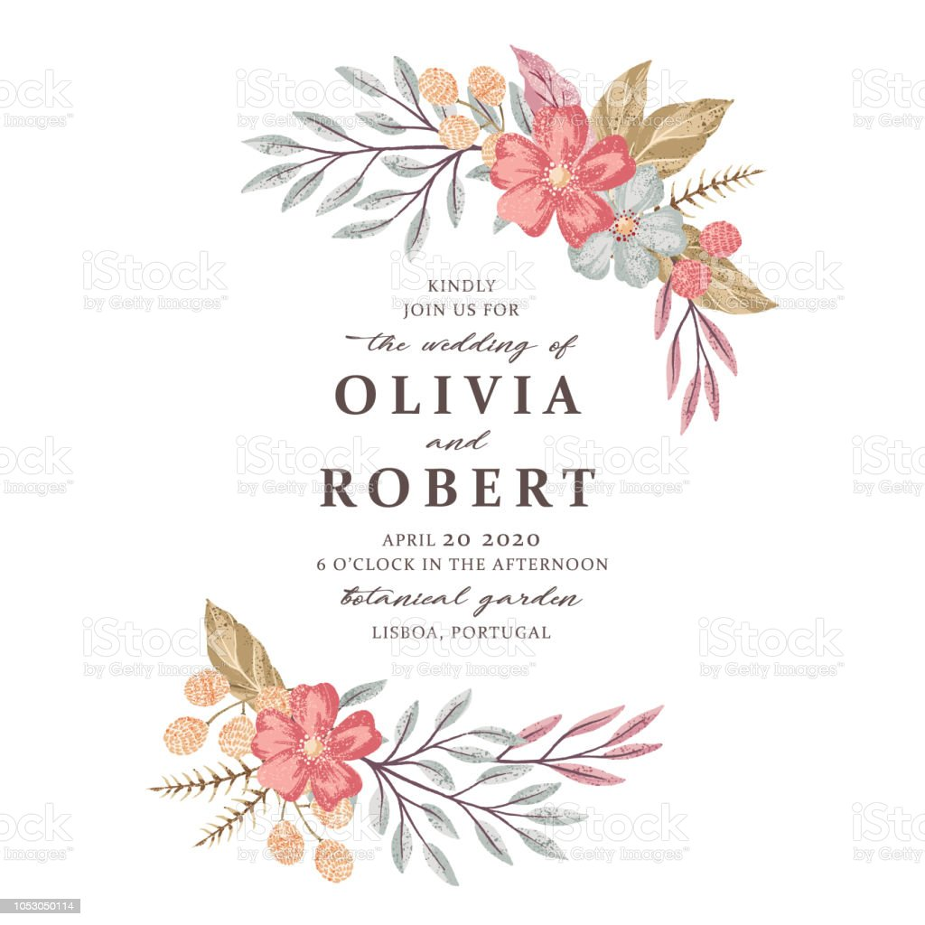 Wedding Invitation Card Template Stock Illustration Download Image Now Istock