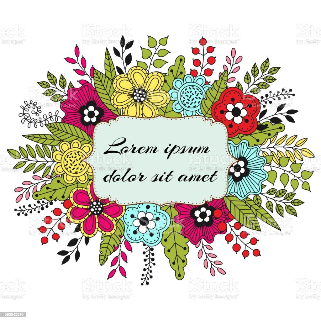 Modelo de Cartão de convite de casamento. - ilustração de arte em vetor