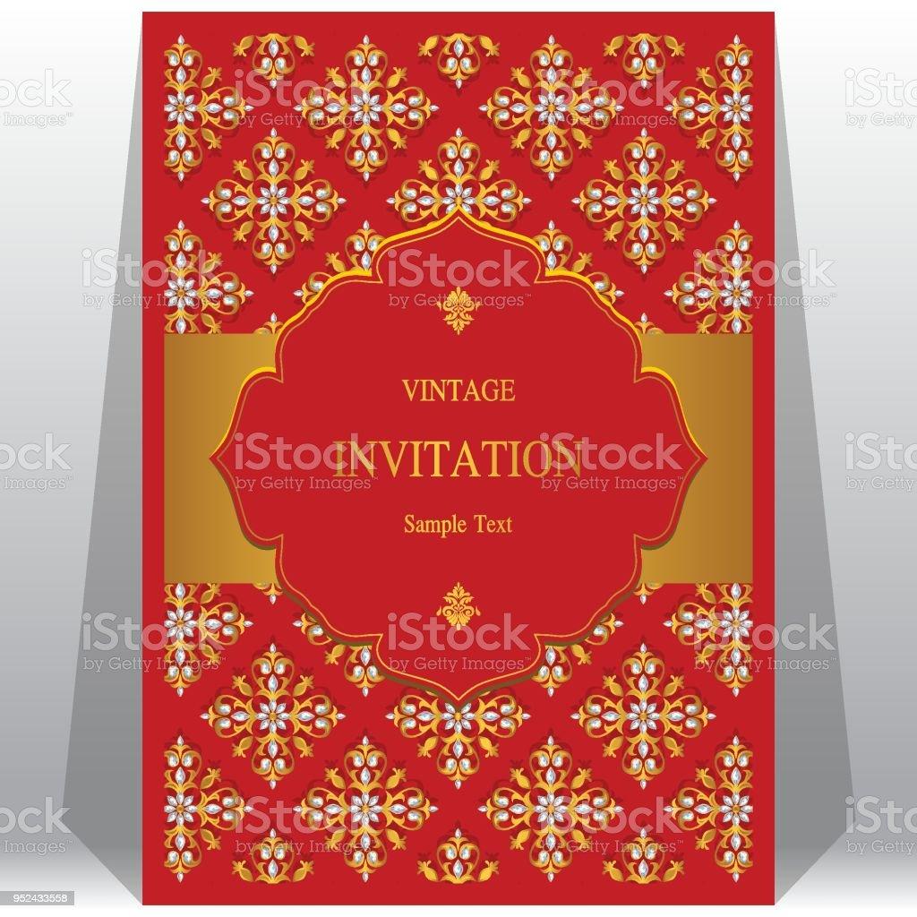 Wedding Invitation Card Red Background Design Hd