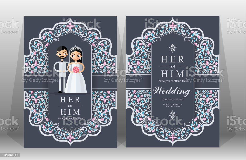Wedding Invitation Card Templates With Indian Man And Women ...