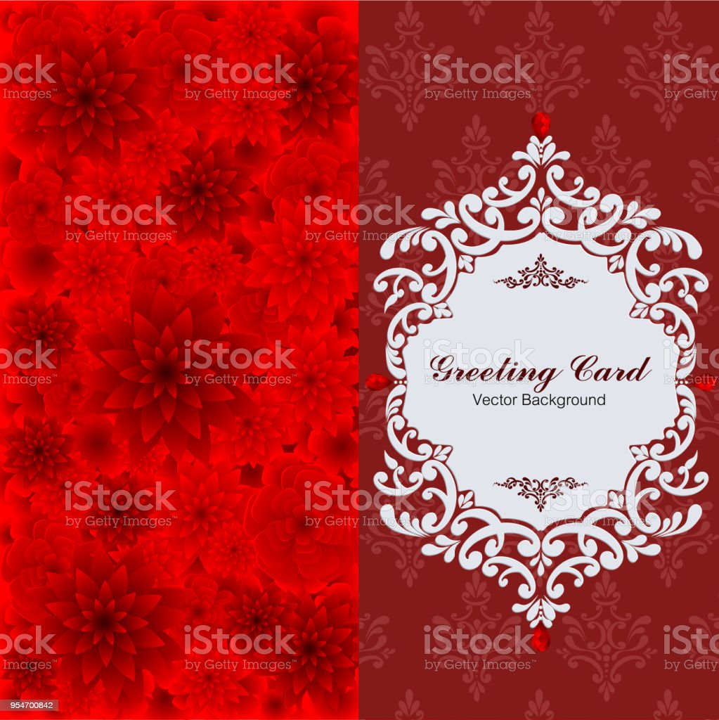 Wedding Invitation Card Templates With Paper Art And Craft Style On ...