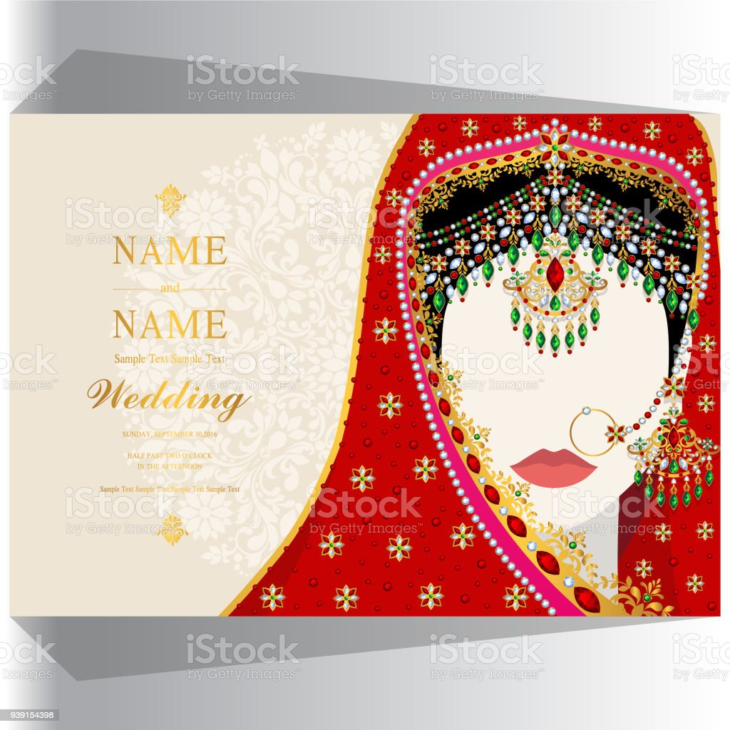 Hochzeit Einladung Kartenvorlagen Mit Frauen Traditionelle Kleidung ...
