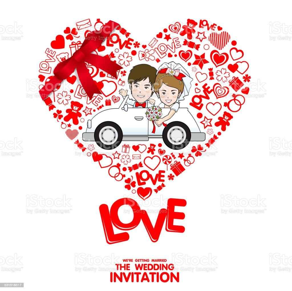 Wedding Invitation Card Valentine Card Stock Vector Art & More ...