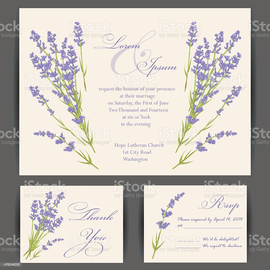 Wedding Invitation Card Stock Vector Art & More Images of 2015 ...