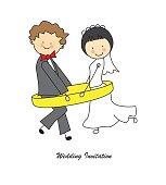 Tarjeta invitación de boda