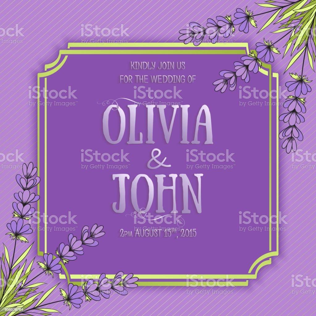 Hochzeit Einladungskarte Vektoreinladungskarte Mit Eleganten Rahmen ...
