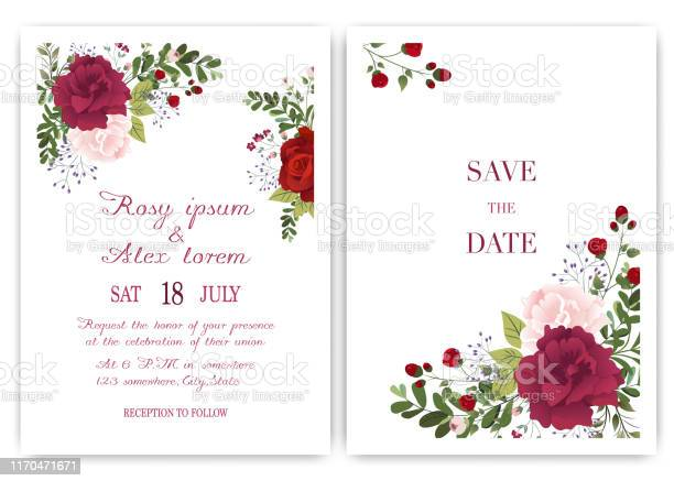 Wedding invitation card with colorful floral and leaves vector id1170471671?b=1&k=6&m=1170471671&s=612x612&h=amgx4gunzzckhgd6ptwwu9gjsu3k2ndbgizhhl bok4=