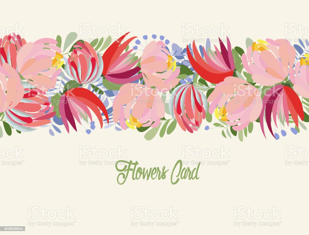 Wedding Invitation Card With Flower Templates On Isolated Background Stockowe Grafiki Wektorowe I Więcej Obrazów Akwarela