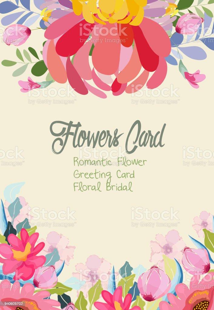 Hochzeit Einladungskarte Mit Blume Vorlagen Auf Weißem Hintergrund ...