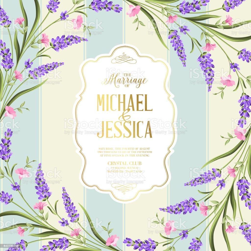 Hochzeit Einladung Karte Mit Blumen Stock Vektor Art Und Mehr Bilder
