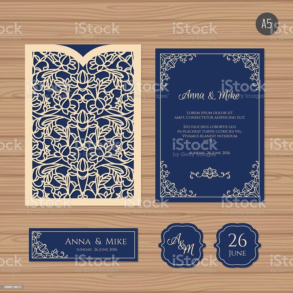 Carto de convite de casamento com envelope cortados a laser arte carto de convite de casamento com envelope cortados a laser carto de convite de casamento stopboris Image collections