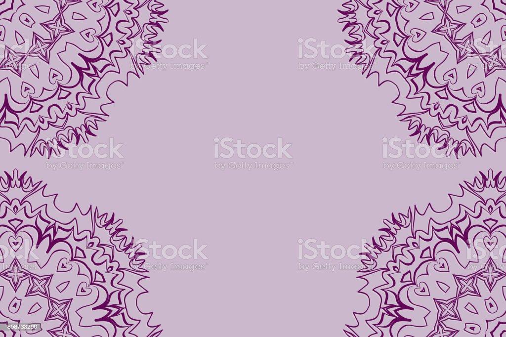 Wedding Invitation Card With Mandala Background Purple Color Fashion Design Stock Illustration Download Image Now Istock