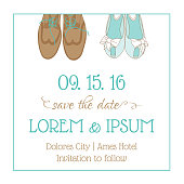 Wedding Invitation Card - with Wedding Shoes