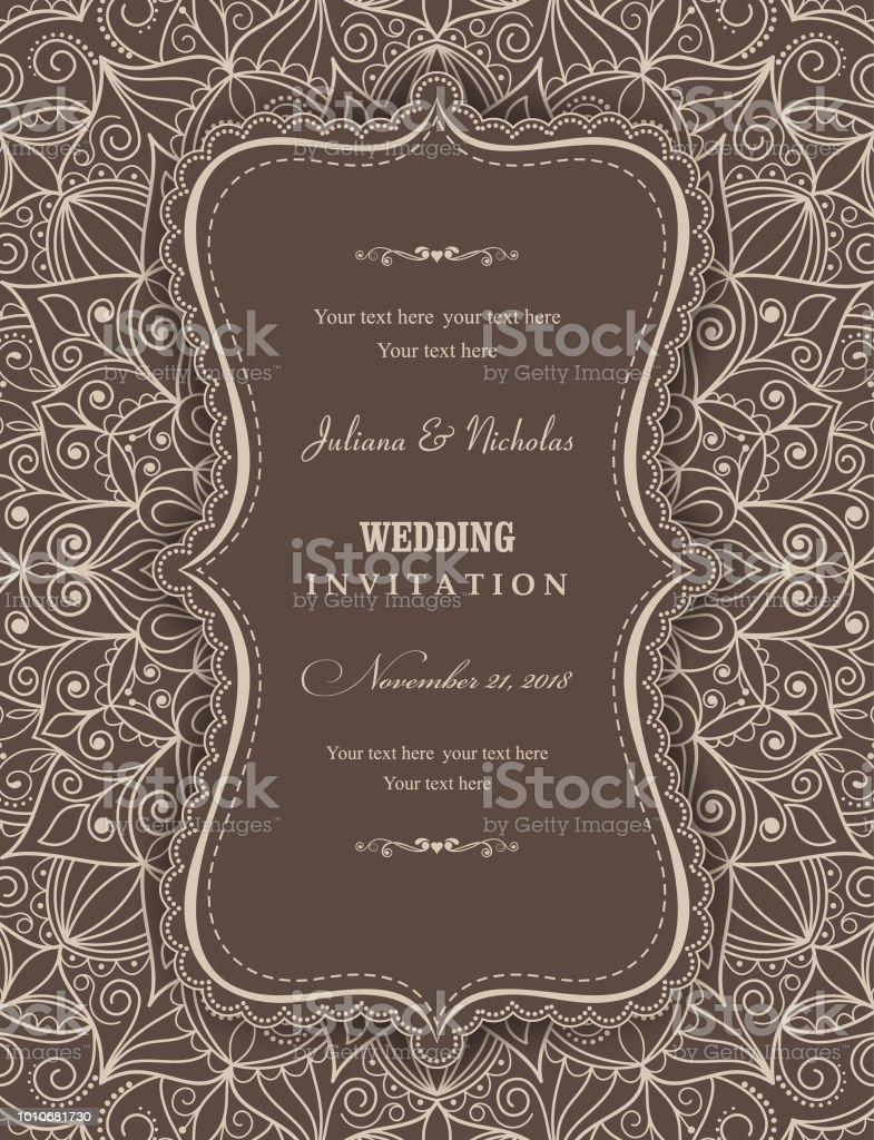 Hochzeit Einladung Karten östlichen Stil Arabische Muster ...