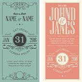 Wedding invitation cards templates