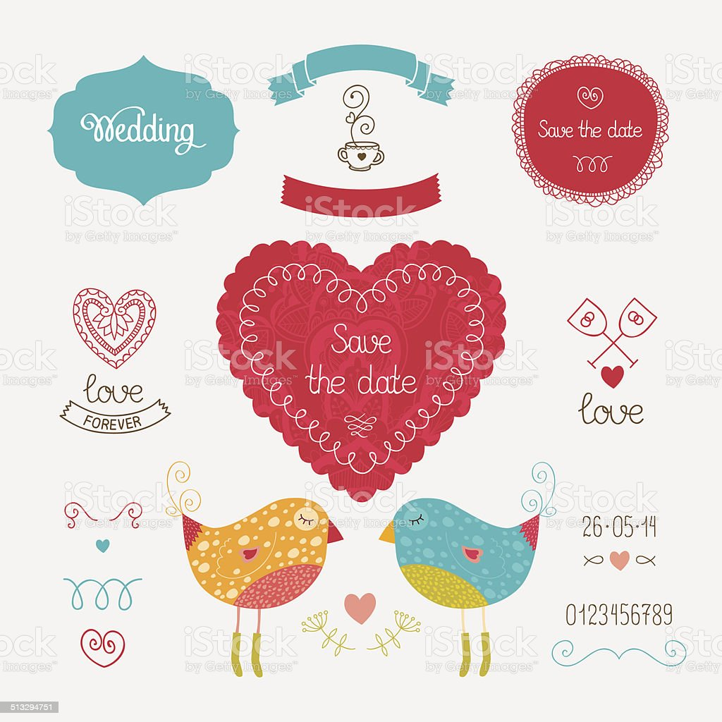 Wedding Invitation Collection Stock Vector Art & More Images of ...