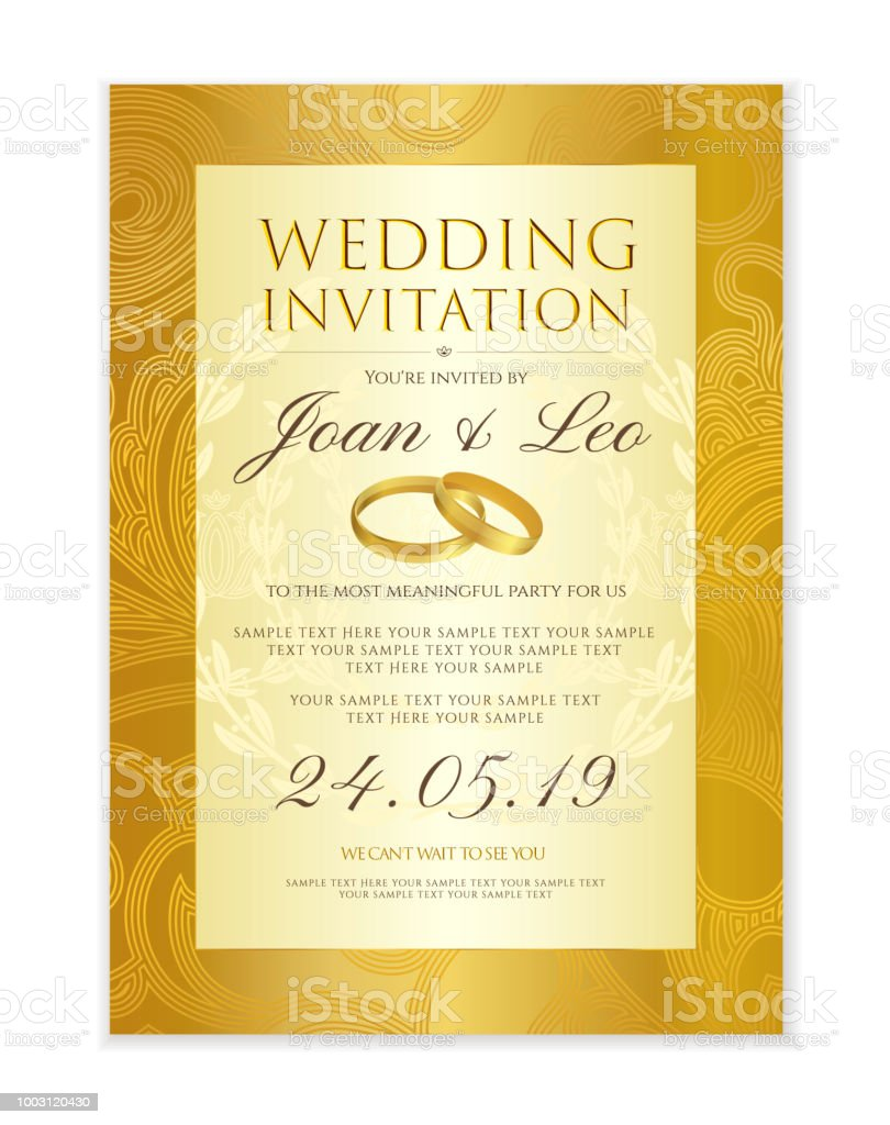 Wedding Invitation Design Template Stock Illustration Download Image Now Istock