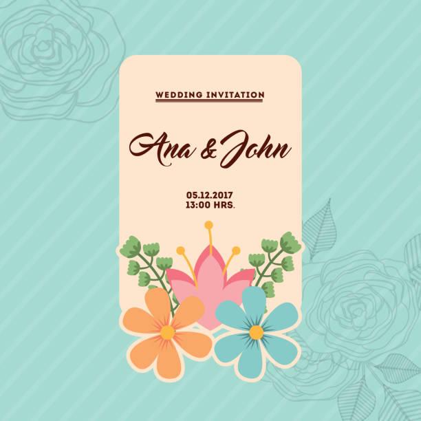 結婚式の招待状のデザイン - 休日/季節ごとのイベント点のイラスト素材/クリップアート素材/マンガ素材/アイコン素材