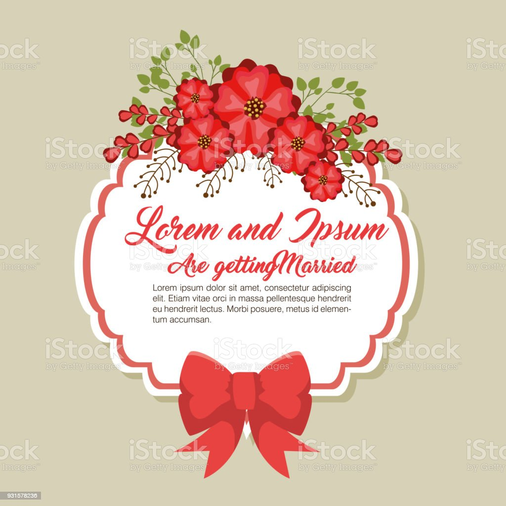 Wedding Invitation Floral Frame Stock Vector Art & More Images of ...