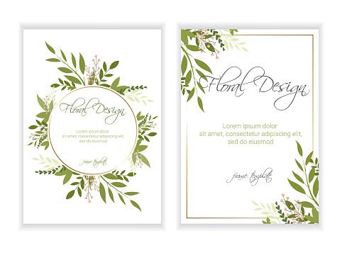Wedding Invitation, floral invite card Design . eps 10.