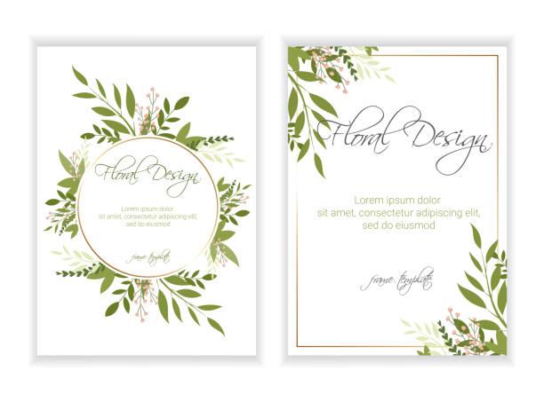 wedding invitation, floral invite card design . eps 10. - floral borders stock illustrations