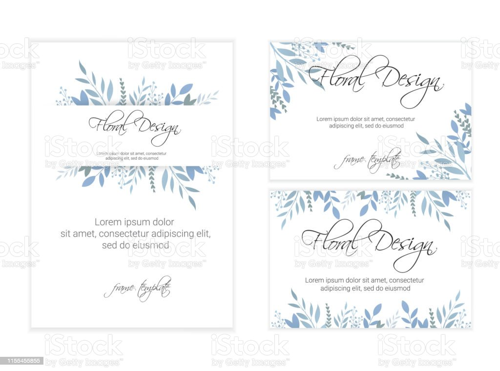 Wedding Invitation Floral Invite Card Design Eps 10 Stock