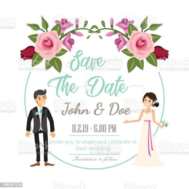 Wedding invitation floral invite card design with beautiful couple vector id1062047216?b=1&k=6&m=1062047216&s=612x612&h=zr4xa zejg2xza qb5vk3d9zujir7fumx98jxsyx8b0=