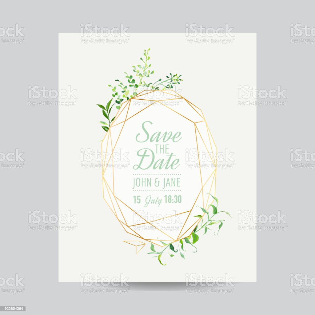 Wedding Invitation Floral Template Save The Date Frame With Place - Save the date text template