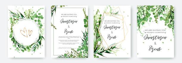 ilustraciones, imágenes clip art, dibujos animados e iconos de stock de marco de la invitación de la boda situado; flores, solated hojas en blanco. - diseños de bodas