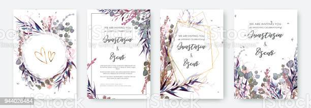 Wedding invitation frame set flowers leaves solated on white vector id944026484?b=1&k=6&m=944026484&s=612x612&h=jn3zshmwhbfecyh372vyvm i0slawptuqrzskvgdndu=