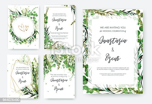 Wedding invitation frame set flowers leaves solated on white stock wedding invitation frame set flowers leaves solated on white stock vector art more images of beauty 944026490 istock stopboris Image collections
