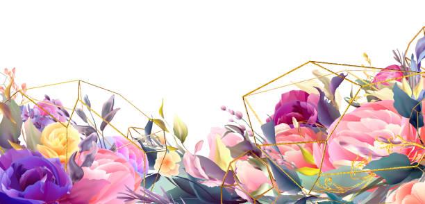 Conjunto de marco de invitación de boda, flores, hojas, acuarela vector mínimo. - ilustración de arte vectorial
