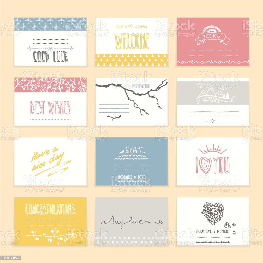 Wedding Invitation Greeting Card Design Templates Stock Vector Art ...